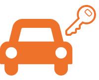 Leihfahrzeug - Auto Orange